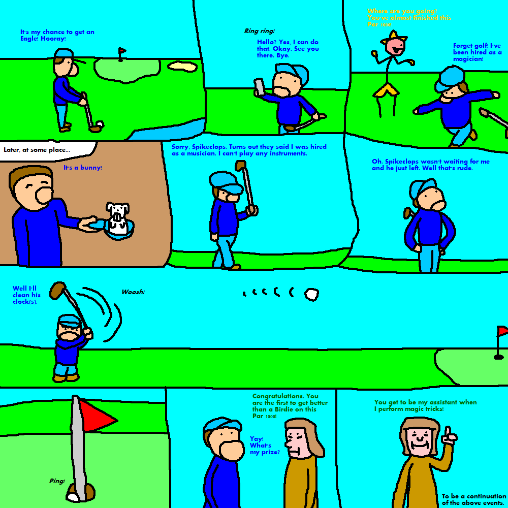 Just a Strip About Golf